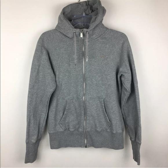 Nike AW77 Stadium Gray Full Zip Up Sweatshirt